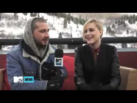 Shia LaBeouf & Evan Rachel Wood interview @ Sundance 2013