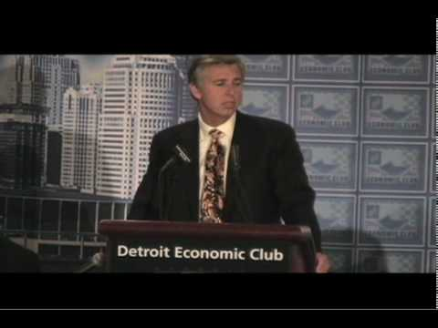 Detroit Tigers President and CEO Dave Dombrowski addresses the Detroit Economic Club