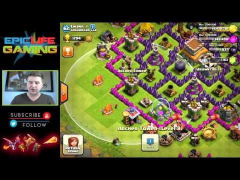 Clash of Clans Great War/Trophy Base! Best Defensive Base! Town Hall Level 8! RTB #9
