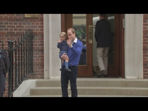 Gorgeous Prince George arrives at hospital and waves to the media