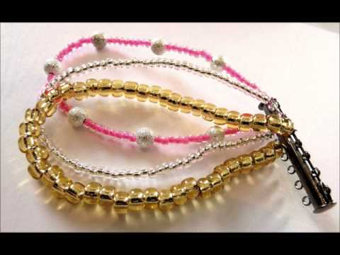 apprendre faire comment faire le bracelet multirangs en perles de rocaille youtube. Black Bedroom Furniture Sets. Home Design Ideas