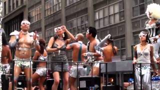 AIDforAIDS HOTTIES or WIERD MUSCLE GUYS FROM SPACE...  2011 NYC GAY PARADE