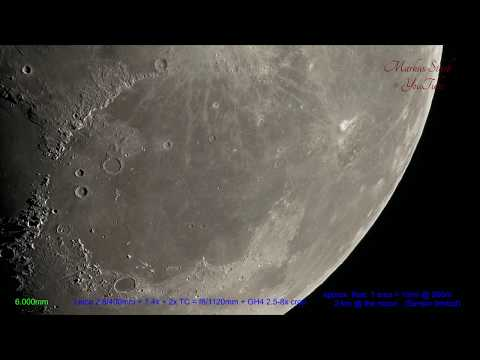 World's sharpest Tele lens! Moon, 300x zooming in! 4K, UHD , Leica Apo-Telyt, up to 15 000mm