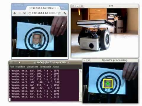 Ardux - (Arduino + Linux OpenWrt + OpenCV) face recognition and tracking wifi robot