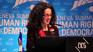 Masih Alinejad is awarded the 2015 Women's Rights Award