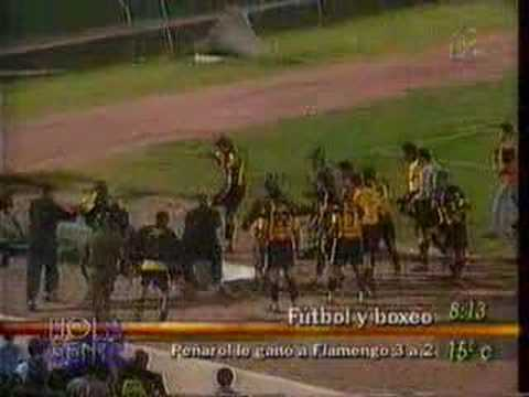 Peleea historica peñarol vs flamengo