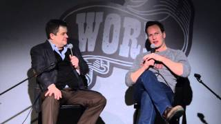Patton Oswalt and Patrick Wilson discuss Watchmen at WORD Jersey City