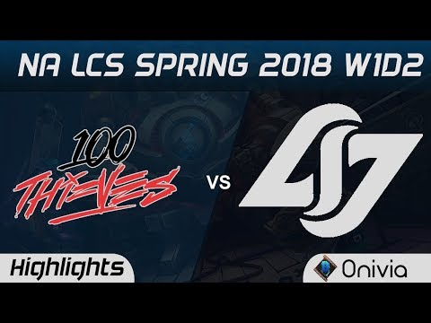 100 vs CLG Highlights NA LCS Spring 2018 W1D2 100 Thieves vs Counter Logic Gaming by Onivia