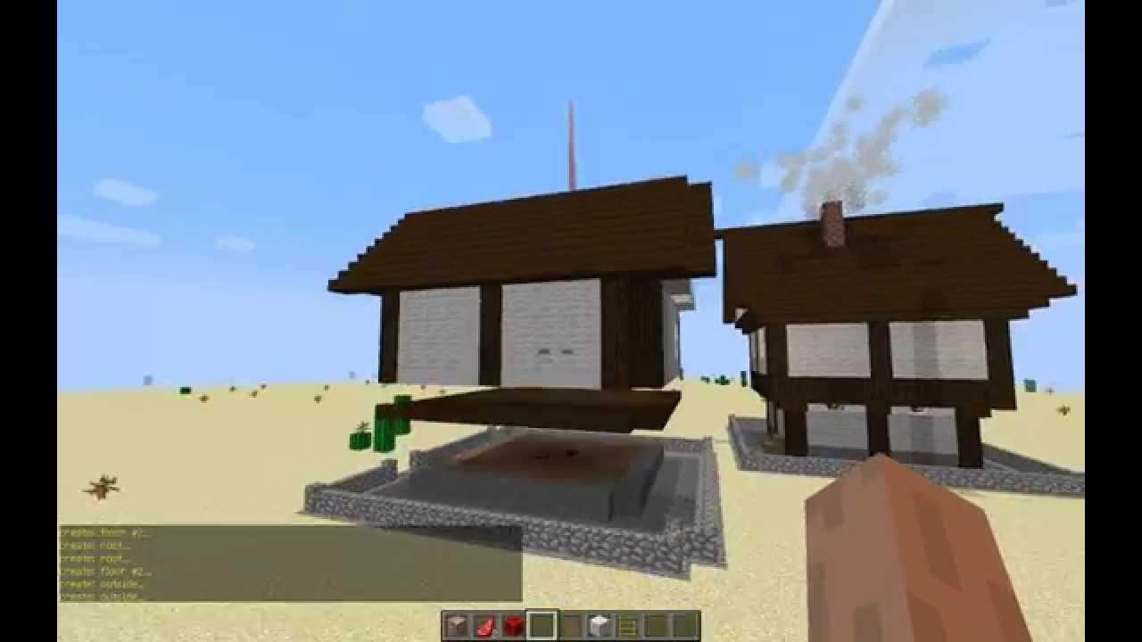 Как сделать красивый дом за 10 сек в Minecraft без модов ! - YouTube