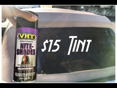 How to Tint Plastic Convertible window  (review)