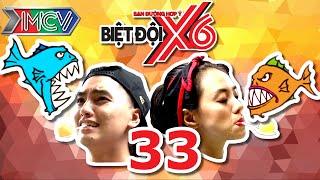 BIỆT ĐỘI X6 | Tập 33 | Sao Việt bấn loạn với thử thách vừa ngậm bóng bàn vừa cho cá rỉa | 260816
