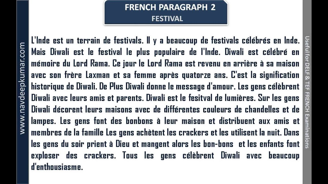 simple french essay