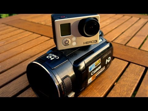 POV camera GoPro Hero3 Black Edition vs. Canon HF S10 side by side motion/action test. Full HD.