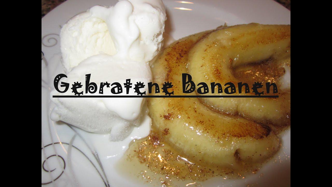 gebratene bananen mit honig schnelles dessert youtube. Black Bedroom Furniture Sets. Home Design Ideas