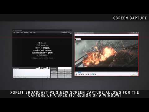 Quick Demo: New Screen Capture Functionality in XSplit Broadcaster V2