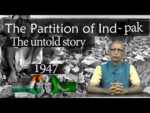 India-Pakistan Sepration| The Untold Story | by Dr Ram Puniyani