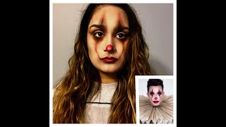 FIRST TIME DOING HALLOWEEN MAKEUP: FOLLOWING JAMES CHARLES PENNYWISE TUTORIAL