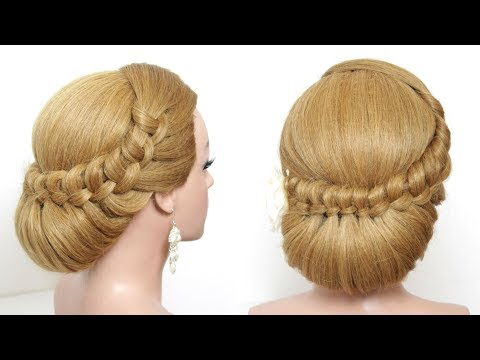 Bridal Hairstyle. Wedding Updo For Long Hair Tutorial Step By Step