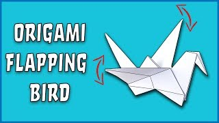 How To Make an Origami Flapping Bird - EASY step by step!