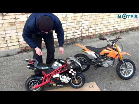 Краткий обзор Минимото MOTAX 50 сс в стиле Ducati | Обзор детского мотоцикла