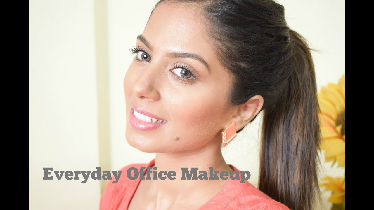 Everyday office makeup for Indian, Brown, Olive skin - YouTube