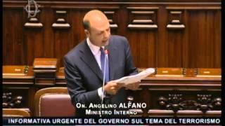 Informativa del ministro Alfano alla Camera sul terrorismo internazionale di matrice religiosa