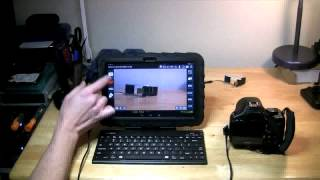 DSLR Camera Remote Control on Android Tablet, DSLR Dashboard, Nexus 10, Canon Camera, OTG Host Cable