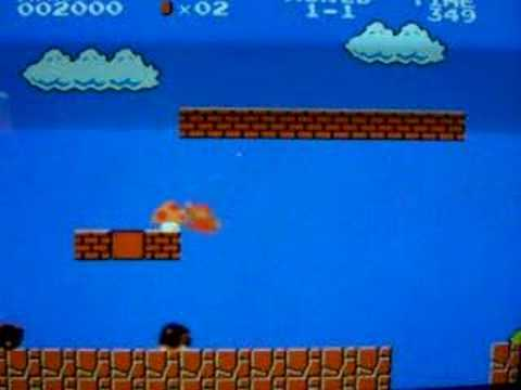 Super Mario Bros. !2 vidas en el nivel 1¡ Video