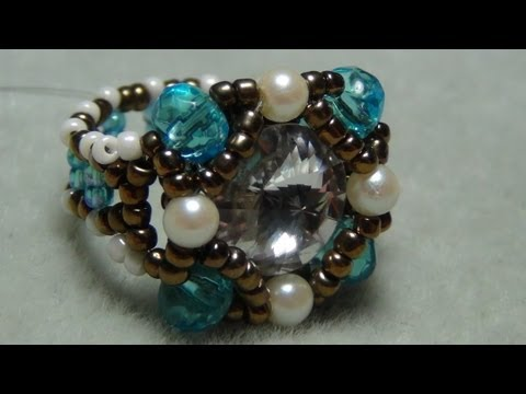 Shank Button beaded Ring Tutorial