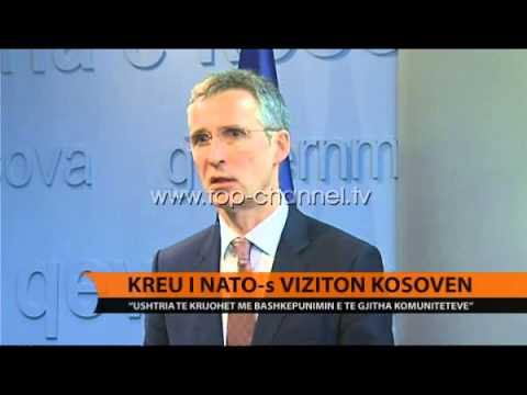 Kreu i NATO-s Stoltenberg viziton Kosovën - Top Channel Albania - News - Lajme