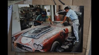 "Vintage 1959 Corvette  ""Purple People Eater"" Rose From Barn Find"