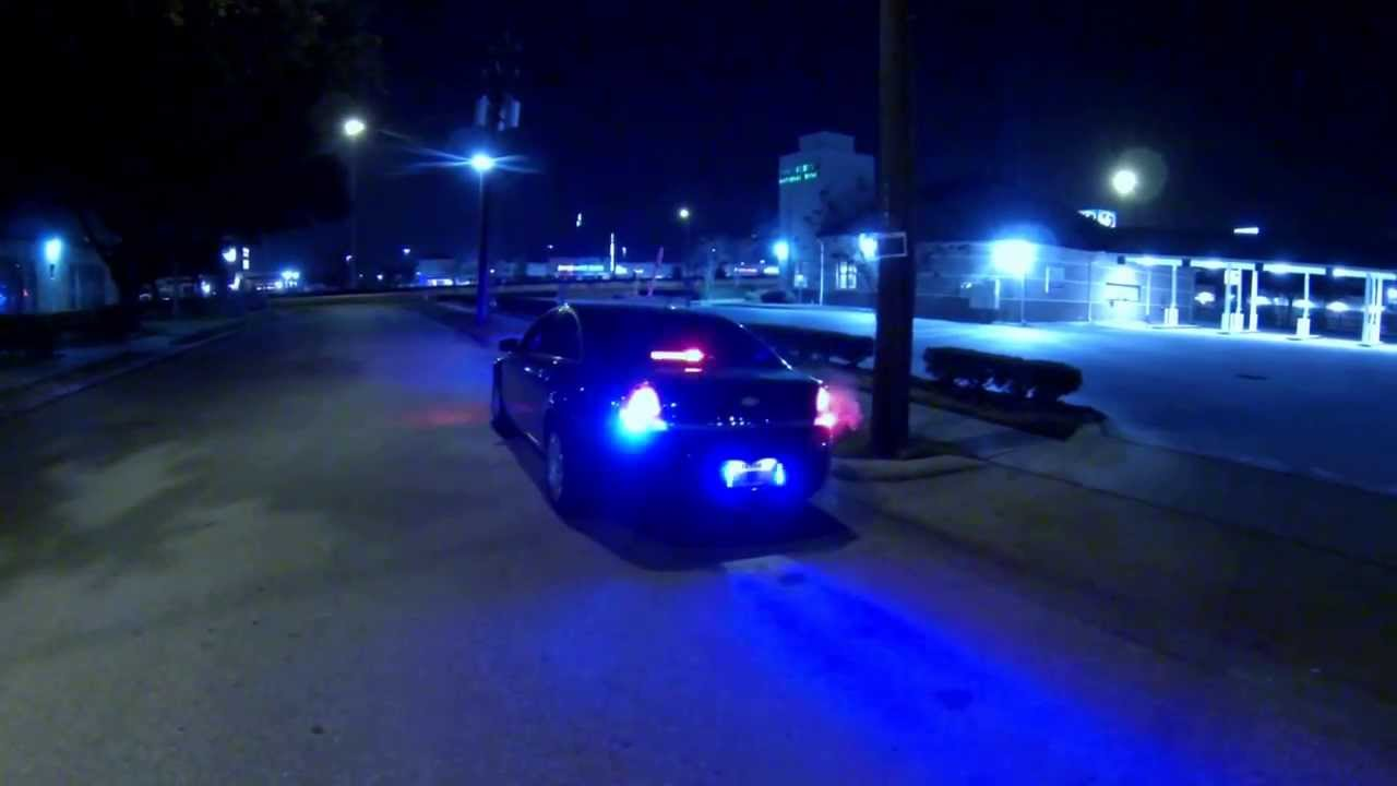 Chevy Caprice Ppv Police Lights At Night Youtube