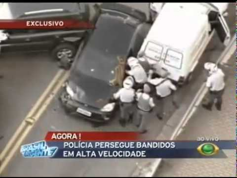 Brazilian Police Chase - Running Over , many shots,  In São Paulo - BR