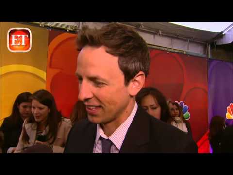 ET FIRST: Seth Meyers Reacts to 'Late Night' Gig