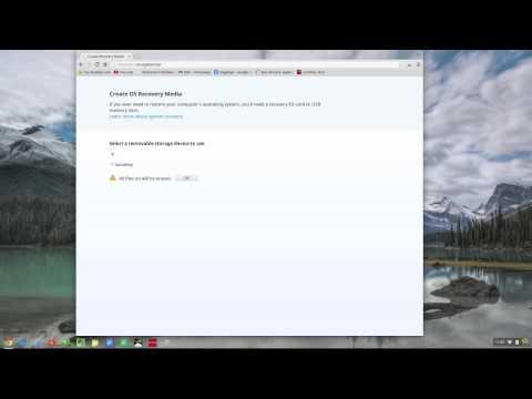 5005 Chrome OS Create a USB Recovery disk