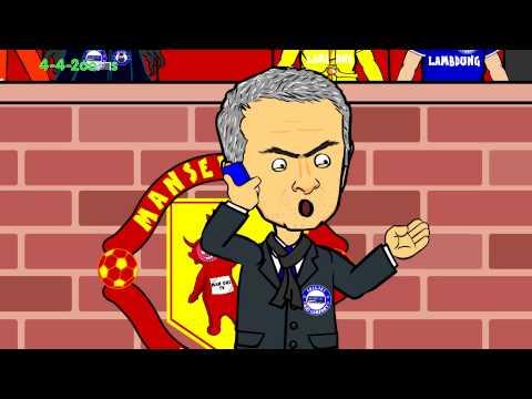 Manchester United vs Chelsea 1-1 26.10.14 (football cartoon, goals, highlights, red card)