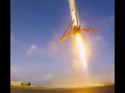 SpaceX CRS6 BARGE LANDING (view from gopro)
