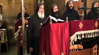 الجزء الأول من تسبحة عيد العذراء القديسة مريم لآباء مجمع الدير