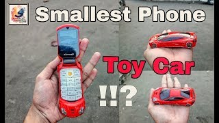 Small Mobile Phone it looks like a small toy car! best mini phone   world's smallest📱