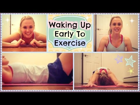 Tips on Waking Up Early to Exercise // Working Out in the Morning by a Dietitian