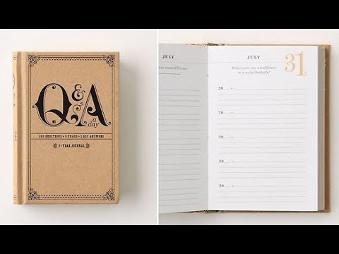 5 Year One Question a Day Q&A Journal Review