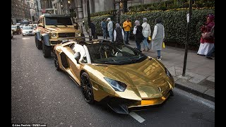 Amazing pure golden lemorgini latest model 2017   First Gold Plated Lamborghini Aventador LP700-4