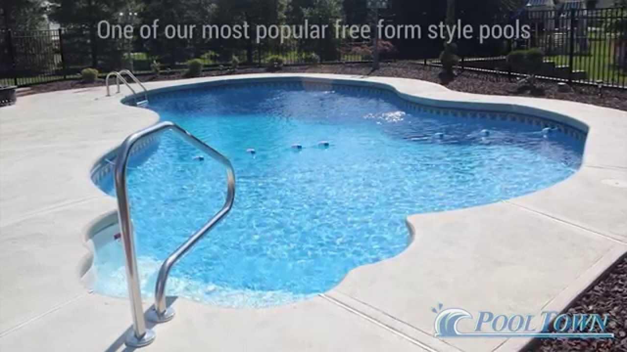 Inground Pools Nj Blue Lagoon Style Swimming Pool Pool