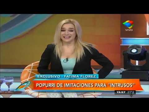 Fátima Florez y un popurrí de imitaciones