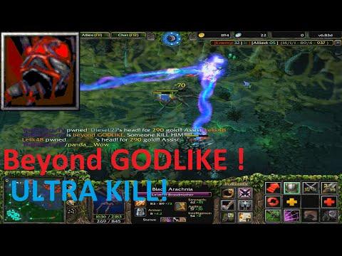 DotA 6.83d - Broodmother Beyond GODLIKE ( ULTRAA KILL)