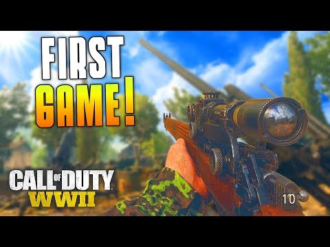 FIRST GAME OF WW2 FUNNY MOMENTS! (Call of Duty: WW2 First Gameplay Funny Moments) - MatMicMar