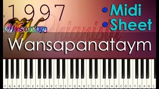 Wansapanataym - Piano Tutorial Inspired by Jan Neland | With Piano Sheet and Midi Download