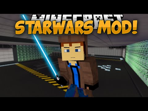 Minecraft Mods   STAR WARS MOD!!   Lightsabers. The Force. & MORE!   Mod Showcase