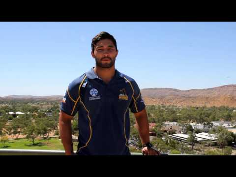 Brumbies young gun Colby Faingaa reports in from Alice Springs