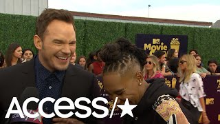 Chris Pratt & Lena Waithe Talking Their MTV Movie & TV Awards Honors Is The Best Thing Ever